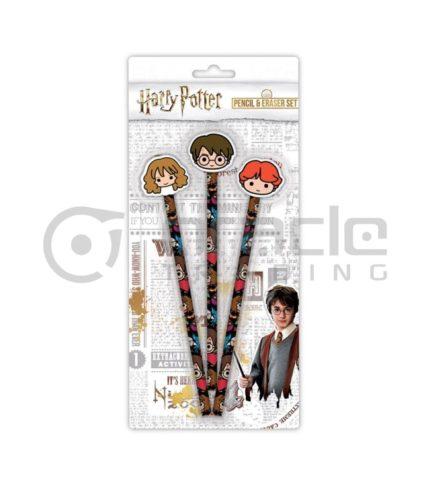 Harry Potter 3-PK Pencil & Eraser Set