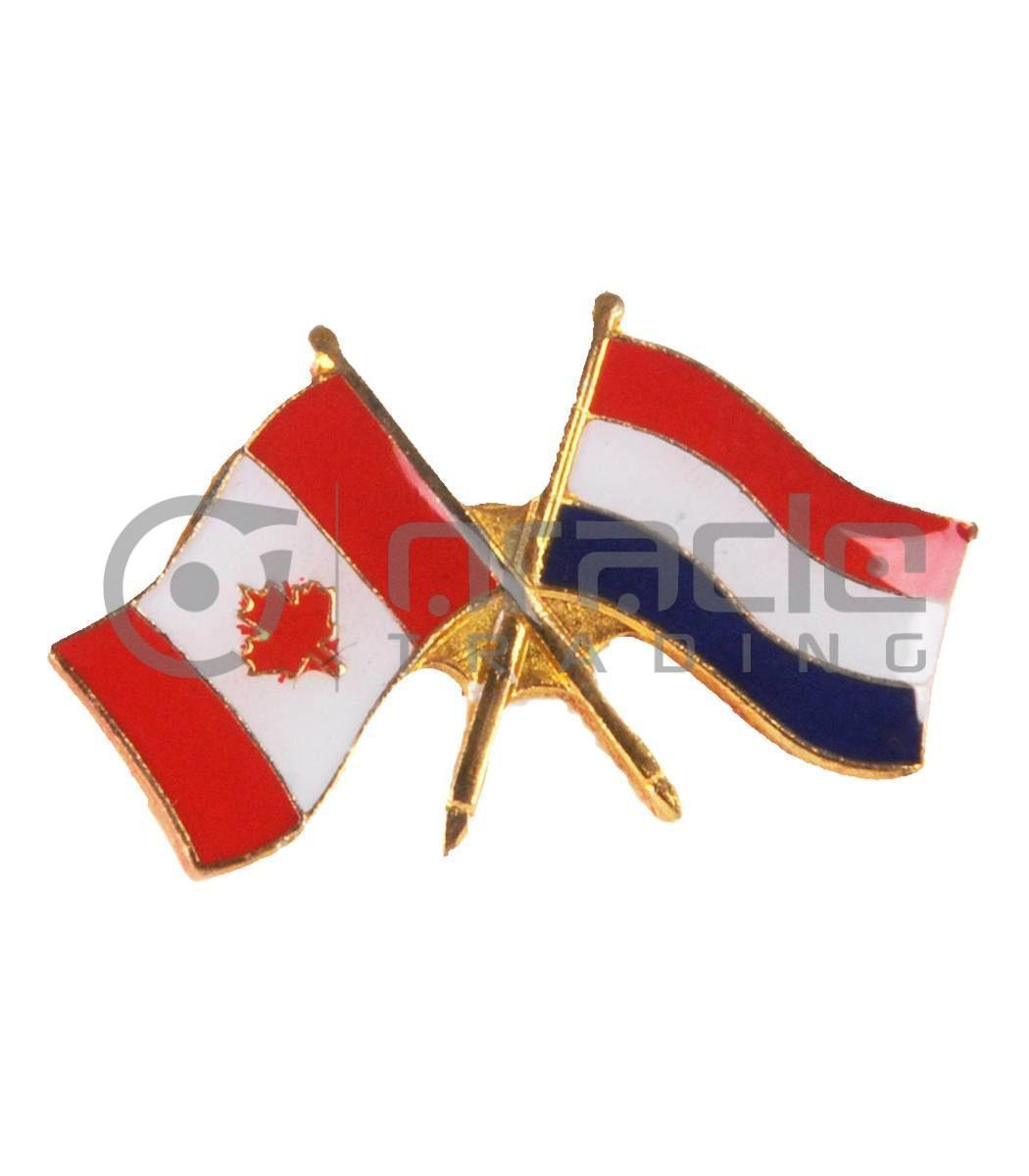 Netherlands / Canada Friendship Lapel Pin (Holland)