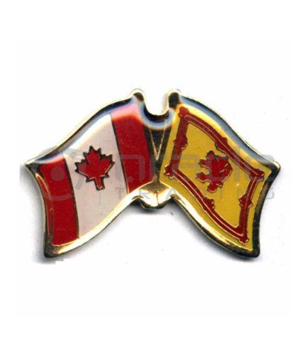 Scotland / Canada Friendship Lapel Pin (Rampant Lion)