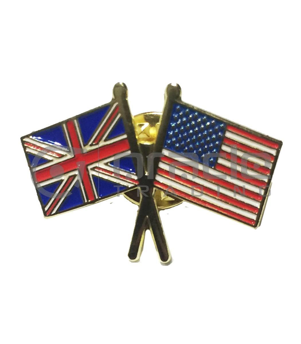 UK / USA Friendship Lapel Pin