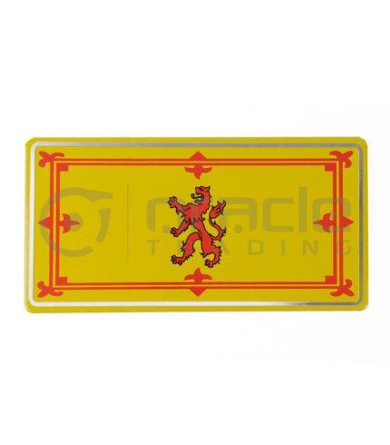 Scotland Plate Sticker