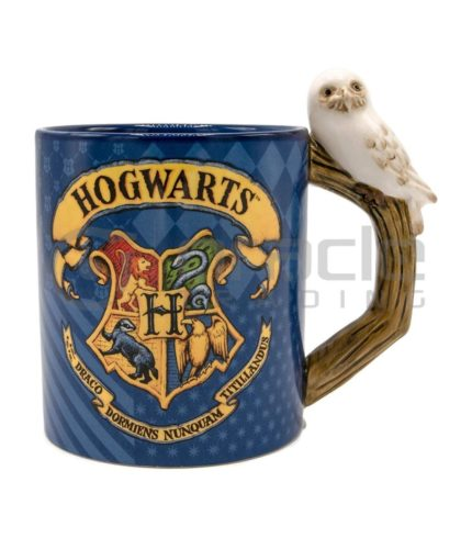 Harry Potter Sculpted Mug - Hogwarts & Hedwig