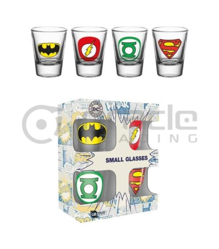 DC Comics Shot Glass Set (4-Pack)