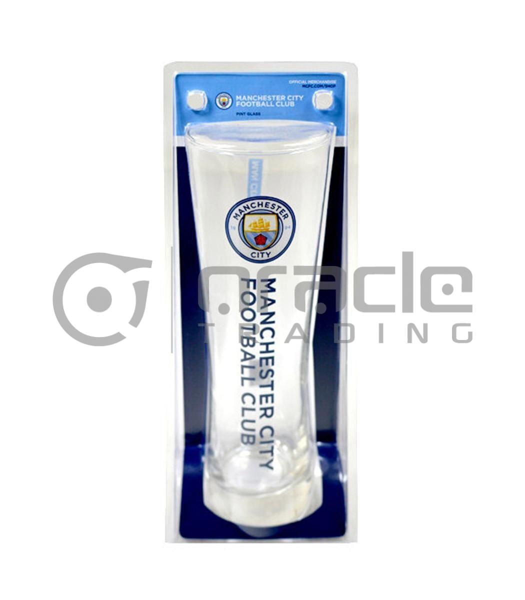 Manchester City Slim Pint Glass