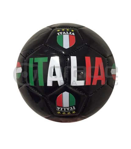 Italia Small Soccer Ball - Black