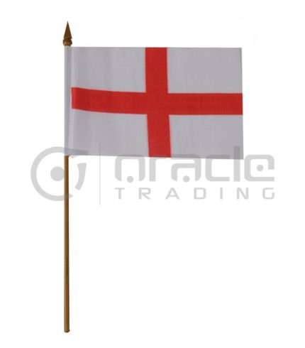 "England Small Stick Flag - 4""x6"" - 12-Pack"