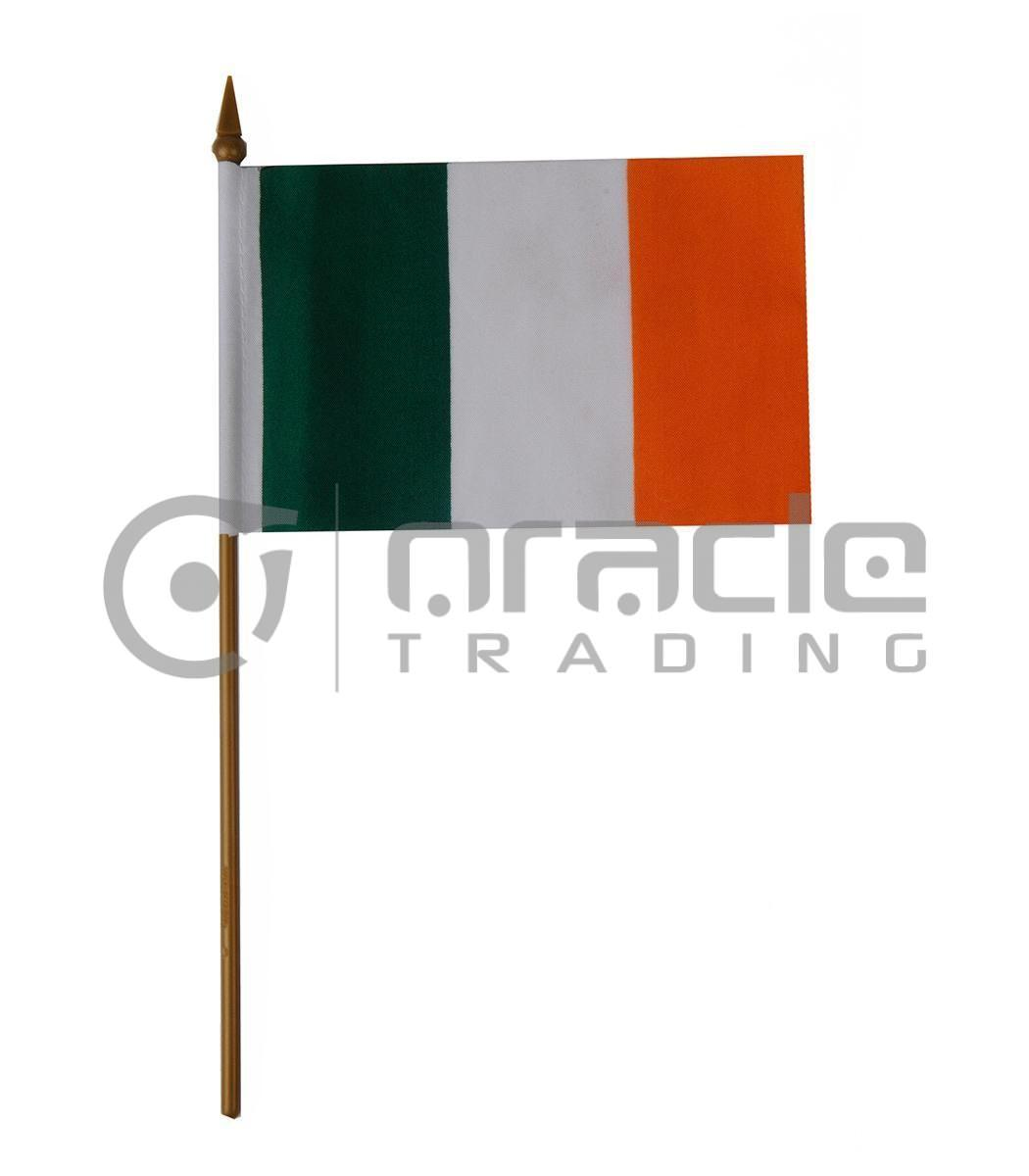 "Ireland Small Stick Flag - 4""x6"" - 12-Pack"