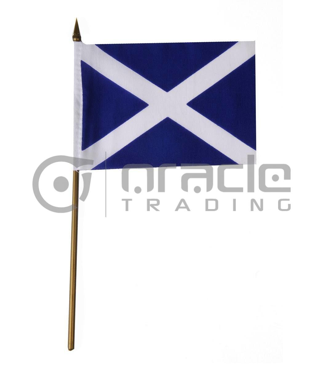 """Scotland Small Stick Flag - 4""""x6"""" - 12-Pack (St. Andew's Cross)"""