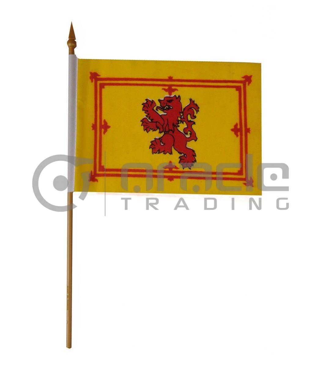 "Scotland Small Stick Flag - 4""x6"" - 12-Pack (Rampant Lion)"