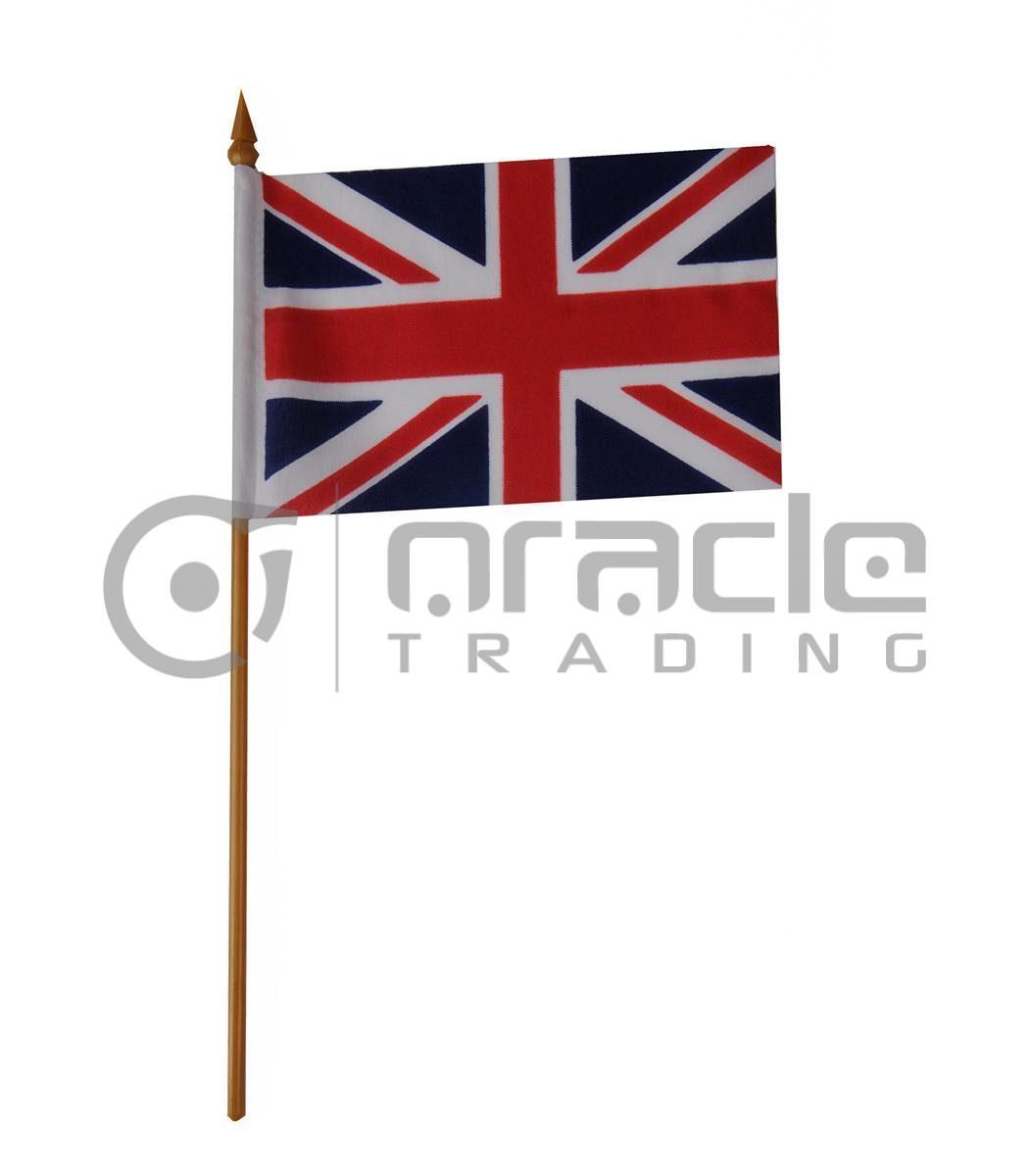 "UK Small Stick Flag - 4""x6"" - 12-Pack (United Kingdom)"