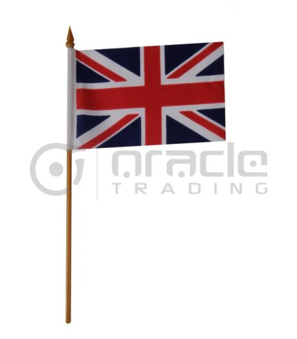 "UK Small Stick Flag - 4""x6"" - 12-Pack (United Kingdom)"