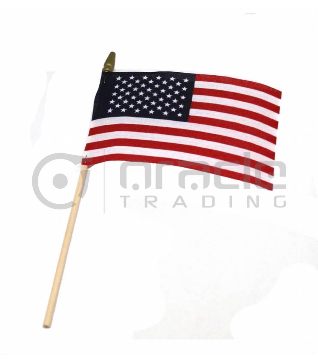 "USA Small Stick Flag - 4""x6"" - 12-Pack"