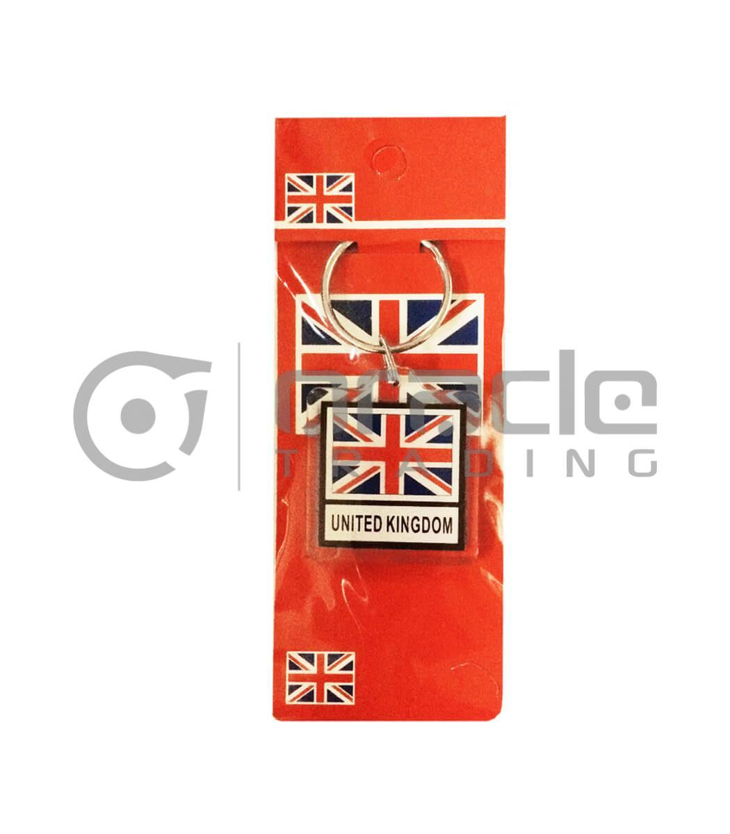UK Square Keychain 12-Pack
