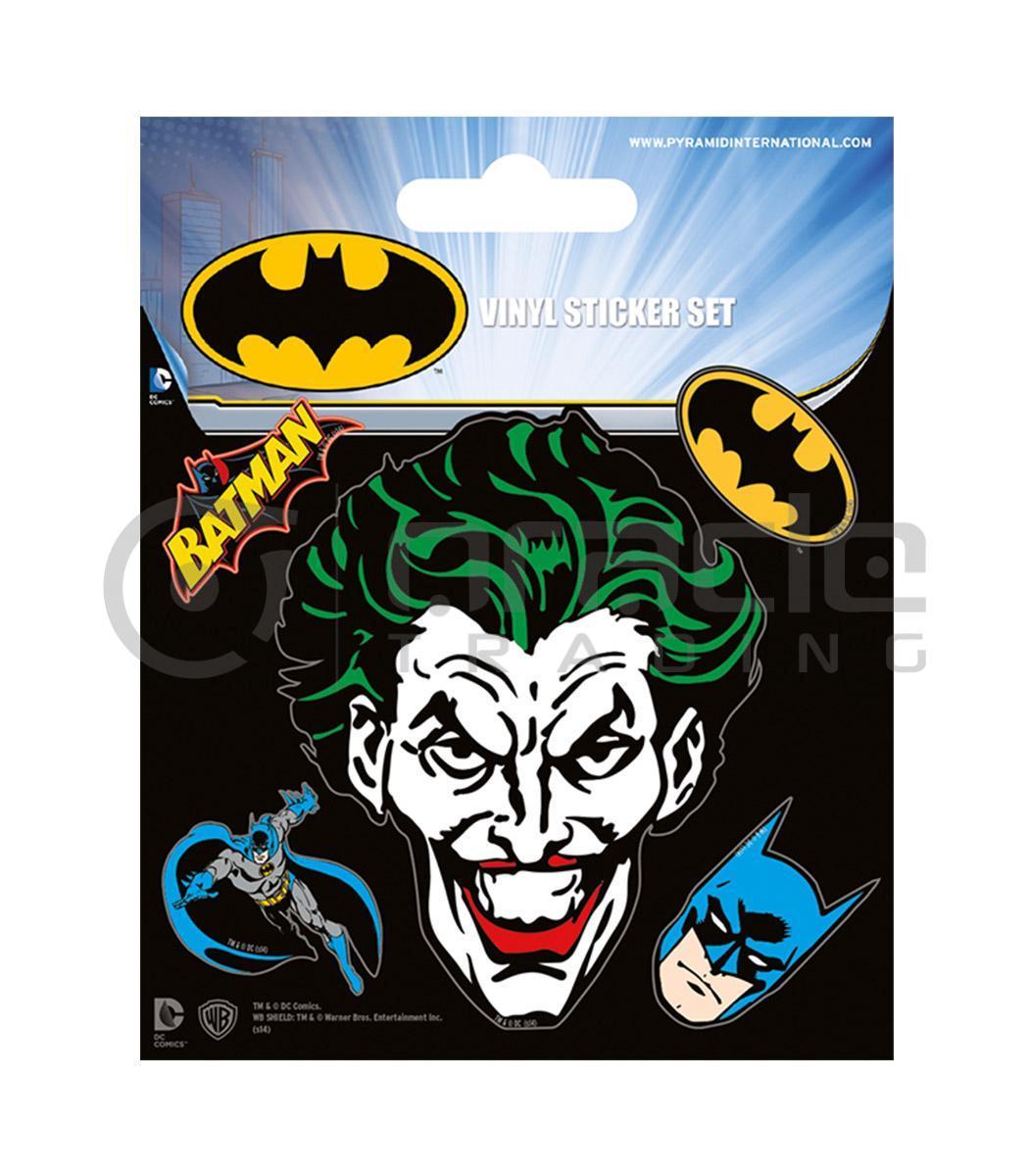 Batman joker vinyl sticker pack