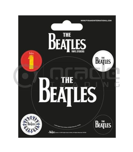 The Beatles Black Vinyl Sticker Pack