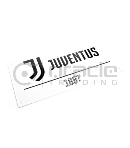 Juventus Street Sign - White