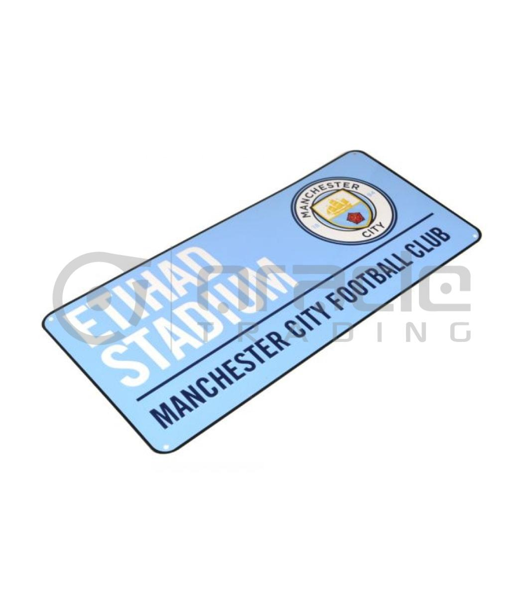Manchester City Street Sign - Sky Blue