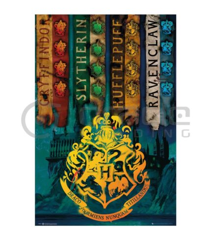 Harry Potter Poster - House Flags